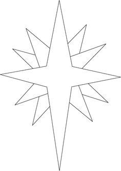 Картинка рождественская звезда для раскраски