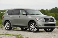 Infiniti QX56. The Entertainment package is a Must for my little soldiers.