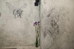 "Fantasy Animals Wall Mural – Bar Design Concept & Illustration ""Bruder Grimm Bar"", Berlin Germany http://www.studio-wandelbar.com/"