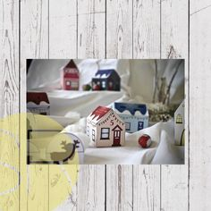 Paper Village Advent calendar Christmas Countdown, Christmas Crafts, Kebab Sticks, Paper Glue, Up House, Fairy Lights, Advent Calendar, Create Your Own, Make It Yourself