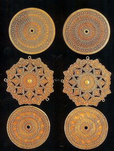 22 K gold granulated ornaments, Indonesia