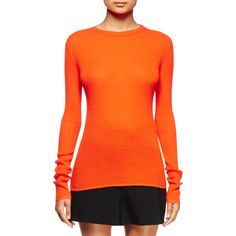 Proenza Schouler Long-Sleeve Open-Back Sweater ($630) ❤ liked on Polyvore featuring tops, sweaters, electric red, proenza schouler sweater, red pullover sweater, red sweater, cut-out tops and open back long sleeve top