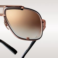 The Limited Edition Rose Gold Aviator Sunglasses by DITA Eyewear.