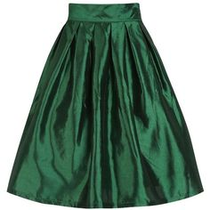 'Marnie' Emerald Green Circle Skirt ($37) ❤ liked on Polyvore featuring skirts, green, flared midi skirt, midi flare skirt, circle skirt, knee length pleated skirt and green skater skirt