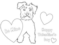 schnauzer puppy valentine coloring pages for kids via schnauzers rulecom