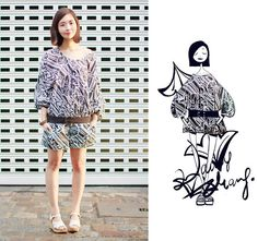 Deco art of Black and white. (by Nancy Zhang) http://lookbook.nu/look/3914508-Deco-art-of-Black-and-white