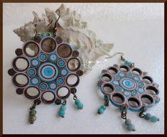 Items similar to Aretes de filigrana de papel hechos a mano ...
