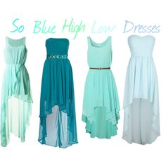 SO BLUE! High Low Dresses - Polyvore