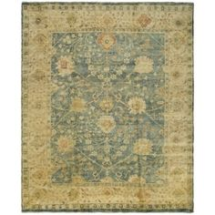 Safavieh Hand-hooked Total Perform Blue/ Taupe Acrylic Rug (9' x 12') | Overstock.com Shopping - The Best Deals on 7x9 - 10x14 Rugs