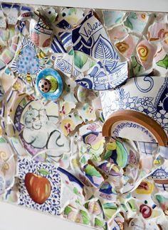 Art - Mosaics Recycling pottery shards