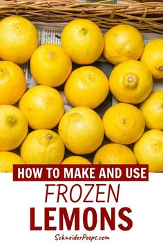 I love freezing lemons to use all year long for drinks and cooking. I freeze slices, juice, lemon zest and whole lemons. Learn how to freeze lemons in a variety of ways and what to do with frozen lemons in this step by step guide. Stock up while lemons are in season and preserve them for all year. #PreservingFood #SimpleLiving #FromScratch #Homesteading