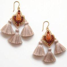QJBoutique/Etsy shop https://www.etsy.com/QJBoutique/listing/386731520/carnelian-stone-earrings-tassel