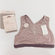 NEW pink Milk bamboo sleep bra by Cake Lingerie.  Contain's nursing pad pockets for all night protection.