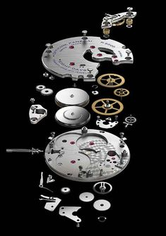 Exploded view of the Panerai P.5000