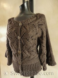 Knitting Pattern Preview - A Sideways Cardigan AND Cowl Set!