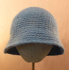 Bucket Hat - crocheted hand spun, hand colored wool - winter by RezahDesignStudio on Etsy