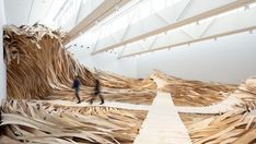A Massive Wooden Wave Surges From a Gallery Floor in an Installation by Wade Kavanaugh and Stephen B. Nguyen : A Massive Wooden Wave Surges From a Gallery Floor in an Installation by Wade Kavanaugh and Stephen B. 360 Virtual Tour, Colossal Art, Collaborative Art, New Media, Art Google, Installation Art, Wood Art, Sculpture Art, Contemporary Art