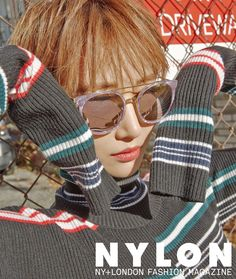 """Go Jun Hee Becomes the Standard of Cool and Stylish with """"Nylon"""" Magazine Super Junior キュヒョン, Go Jun Hee, Look Thinner, Square Faces, Korean Star, Girl Running, London Fashion, Women's Fashion, Korea Fashion"""