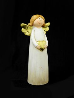 Ceramic Angel With Heart