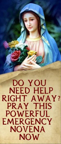 Do You Need Help Right Away? Pray this Powerful Emergency Novena Now Lent Prayers, Easter Prayers, Everyday Prayers, Novena Prayers, Angel Prayers, Special Prayers, Catholic Prayers, Morning Prayers, Catholic Bible