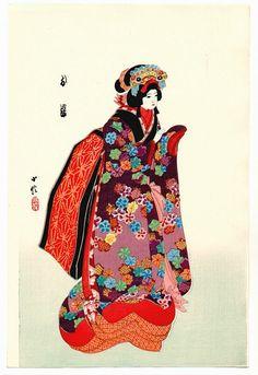 Japanese Puppets Bunraku | ... III Hasegawa : Osone - Bunraku Puppet | Japanese Wood Block