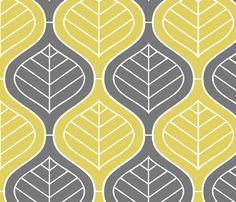Bohemian Mod fabric by Alicia Vance - grey and yellow, would make amazing drapes, rug, etc. Very large scale.