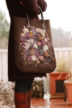 inspiration only  ~  knit, felt, embroider then fashion into a lovely handbag!