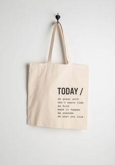 A Way with Verbs Tote | Mod Retro Vintage Bags | ModCloth.com