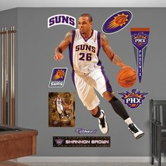Fathead Phoenix Suns Shannon Brown Wall Decals, Multicolor