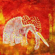 Featured Art - Red Elephant  by Geckojoy