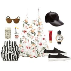 Add some edge to your #Floral #OOTD by adding leather! #StyleTip