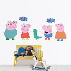 Peppa Pig Wall Decal Removable Wall Sticker by Podypics on Etsy