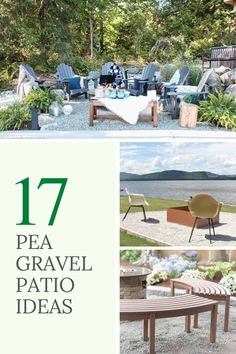 Turn your backyard into a fun hangout spot with a simple pea gravel patio! Add a fire pit and some seating, or create a play area for the kids! Get inspired with one of these DIY pea gravel patio ideas! Porch And Patio Paint, Diy Patio, Patio Ideas, Backyard Ideas, Firepit Ideas, Patio Table, Outdoor Ideas, Garden Ideas, Backyard Designs
