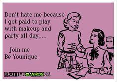 Don't hate me! Join me! Be YOUnique! #beauty #younique #mineralmakeup www.mizzlashlady.com