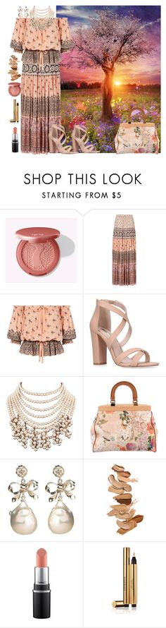 """Spring!"" by cigoehring ❤ liked on Polyvore featuring Tory Burch, Laura Mercier and Yves Saint Laurent"