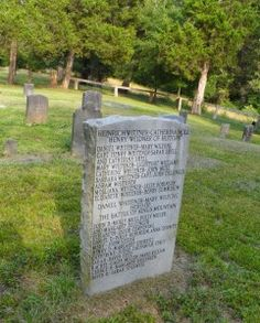 Weidner Monument with Family History.