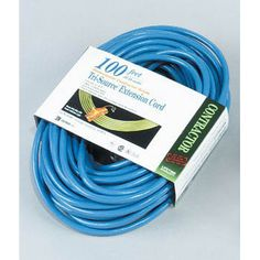 Coleman Cable 04169-06 100' 12/3 3-Way Power Blocks Hi-Visibility Extension Cord