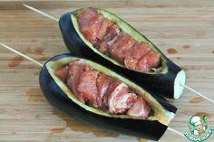 Шашлык в баклажане – кулинарный рецепт Eggplant, Zucchini, Sausage, Food And Drink, Meat, Vegetables, Cooking, Recipes, Kitchen