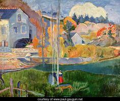 The David-mill in Pont-Aven - Paul Gauguin - www.paul-gauguin.net