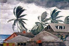 hurricane in the bahamas, winslow homer