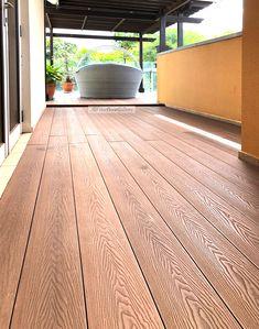 Eco Composite Wood Decking Supplies & Installation in Singapore Composite Flooring, Composite Board, Deck Flooring, Composite Decking, Outdoor Decking, Wpc Decking, Hamptons House, The Hamptons, Wood Deck Designs