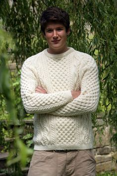 Traditional Aran Book by Wendy Knitting Patterns, Men Sweater, Traditional, Books, Sweaters, Fashion, Moda, Libros, Fashion Styles