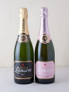 #Champagne! #Lanson - Black Label & Rose 2 pack (91+ Points). Fresh and crisp.  A sommelier favorite.