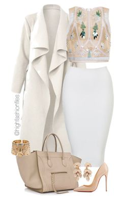 """Wintertime Shine"" by highfashionfiles ❤ liked on Polyvore featuring Delpozo, Christian Louboutin and Pasquale Bruni"