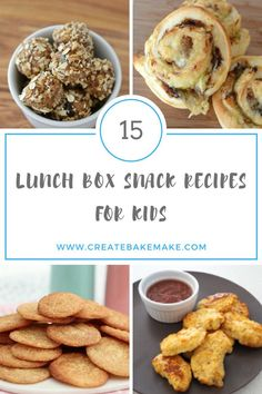 15 Lunch Box Snack Recipes for Kids