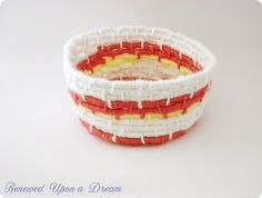 Make a Pretty Yarn-Wrapped Basket - Tutorial