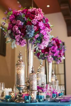 Wedding reception centerpiece idea; Featured Photographer: Melissa Jill Photography