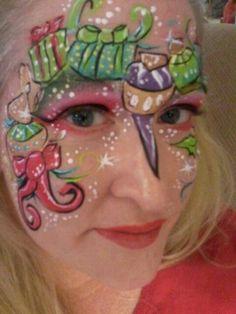 Christmas ornament face painting paintslingers.biz