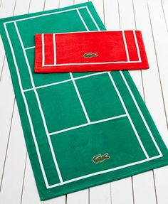 For my cousin Pedro--Lacoste Court Beach Towel - Perfect for using after a tennis match! Tennis Party, Le Tennis, Tennis Gifts, Tennis Match, Tennis Clubs, Sport Tennis, Tennis Players, Lacoste, Tennis Fashion