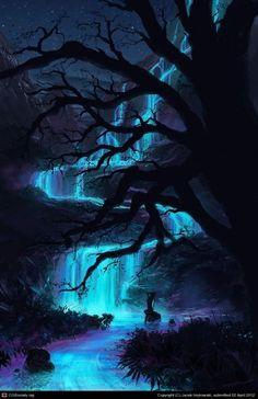 Super Ideas for nature art drawings trees colour Fantasy Artwork, Fantasy Art Landscapes, Fantasy Paintings, Fantasy Landscape, Landscape Paintings, Landscape Art, Dr Mundo, Nature Pictures, Cool Pictures